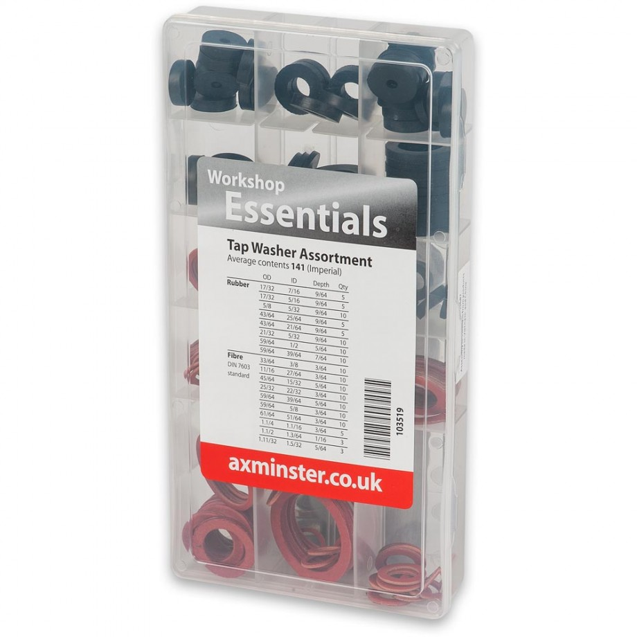 Axminster Tap Washer Sealing Ring Assortment