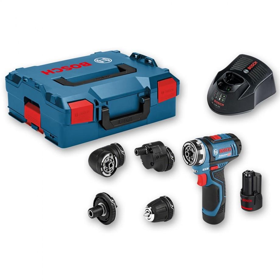 Bosch GSR 12V-15 FC Drill Driver Set 12V (2 x 2.0Ah)