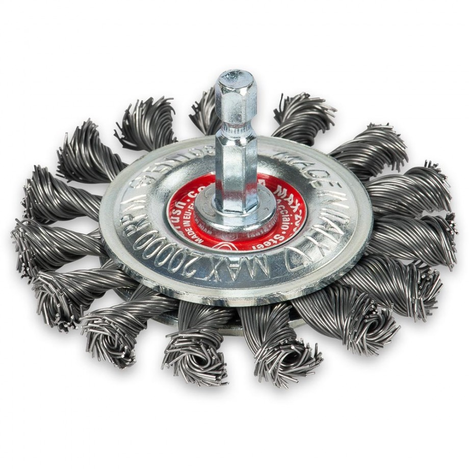 Wire Wheel Brush - Twisted Steel 75mm - Hex Shank