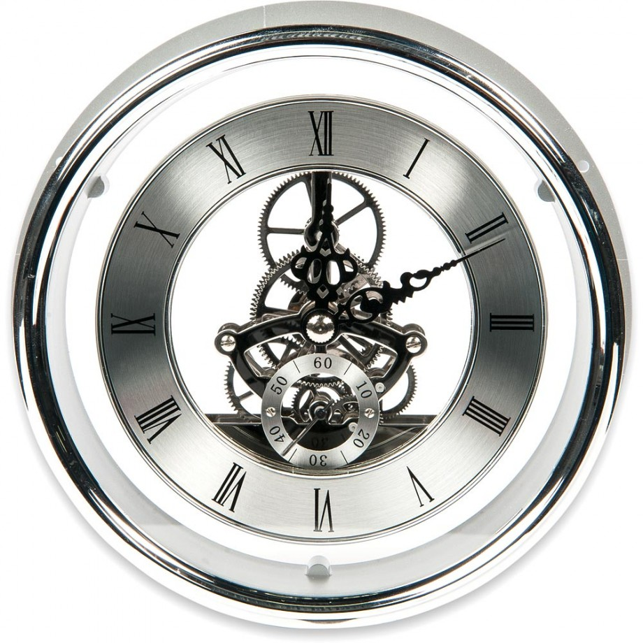 Craftprokits 149mm Silver Skeleton Clock Insert