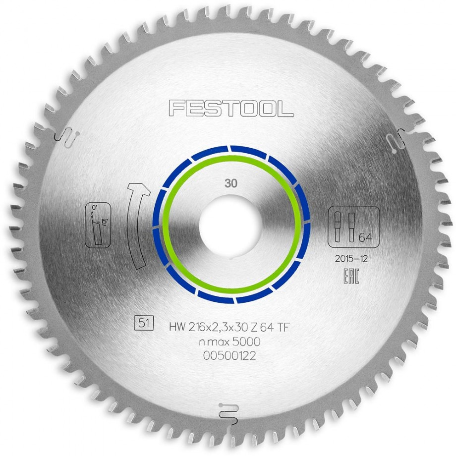 Festool TF64 216mm TCT Saw Blade