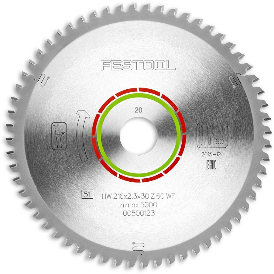 Festool WZ/FA60 216mm TCT Saw Blade