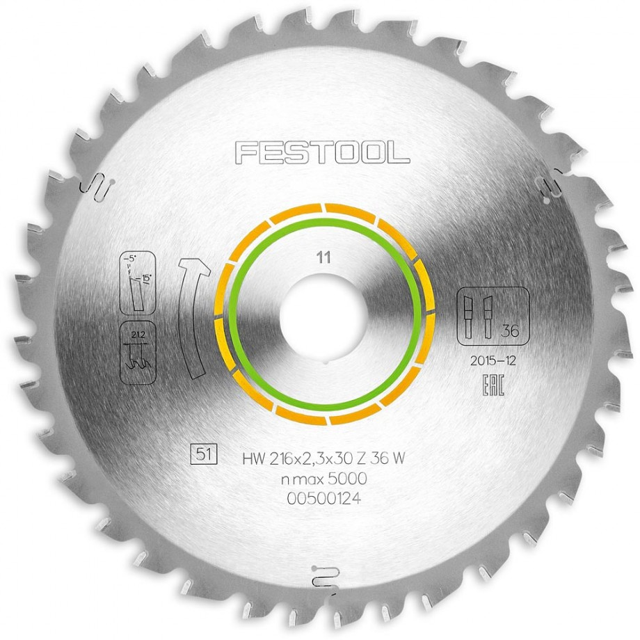 Festool W36 216mm TCT Saw Blade