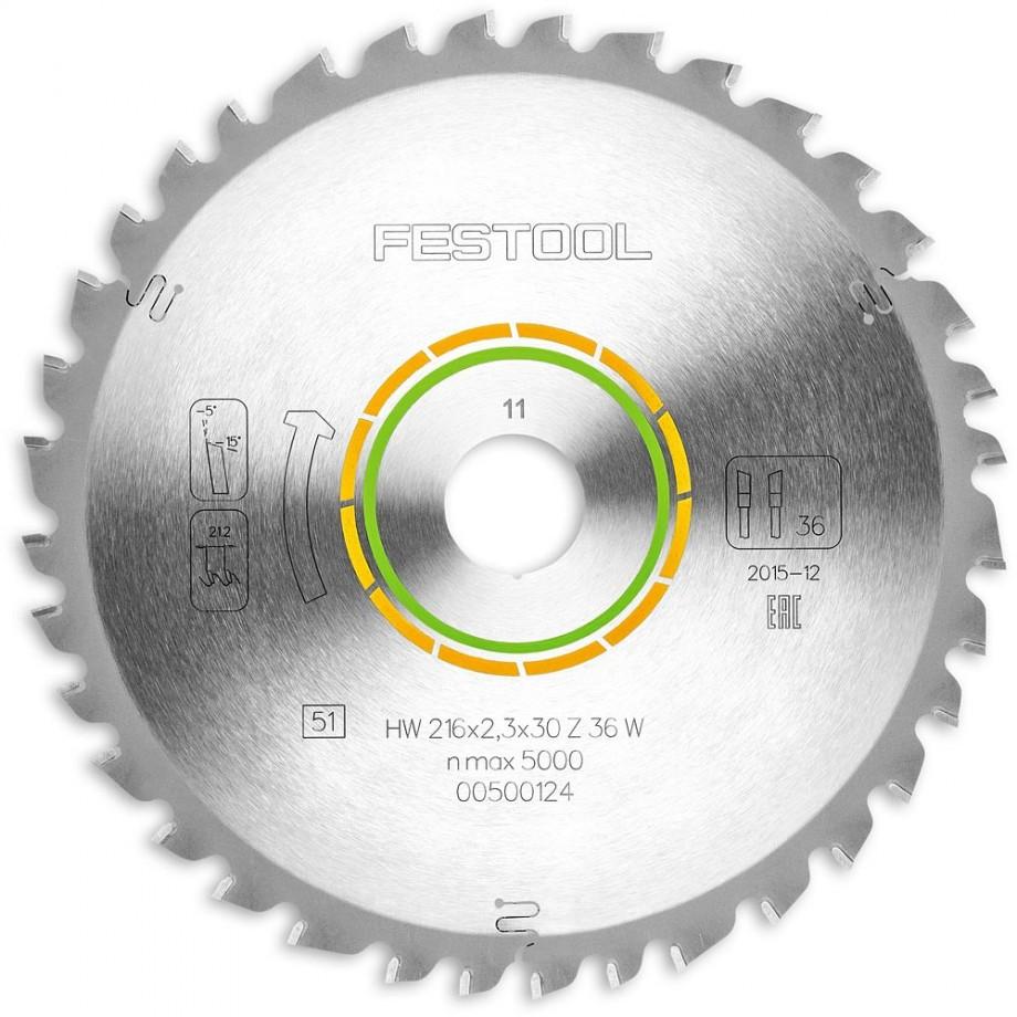 Festool W36 216mm TCT Saw Blade