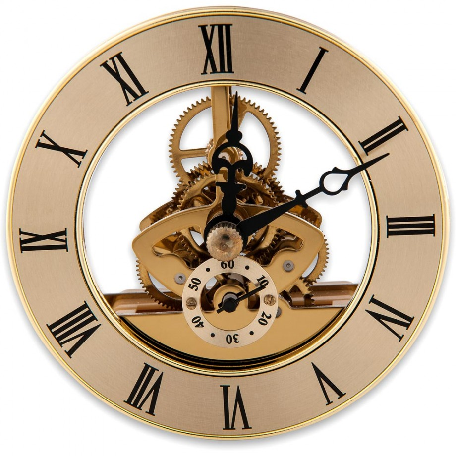 Craftprokits 86mm Gold Skeleton Clock