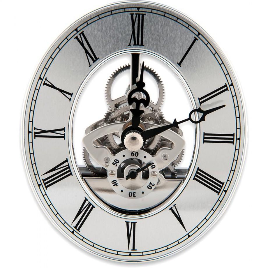 Craftprokits 80 x 94mm Silver Skeleton Clock