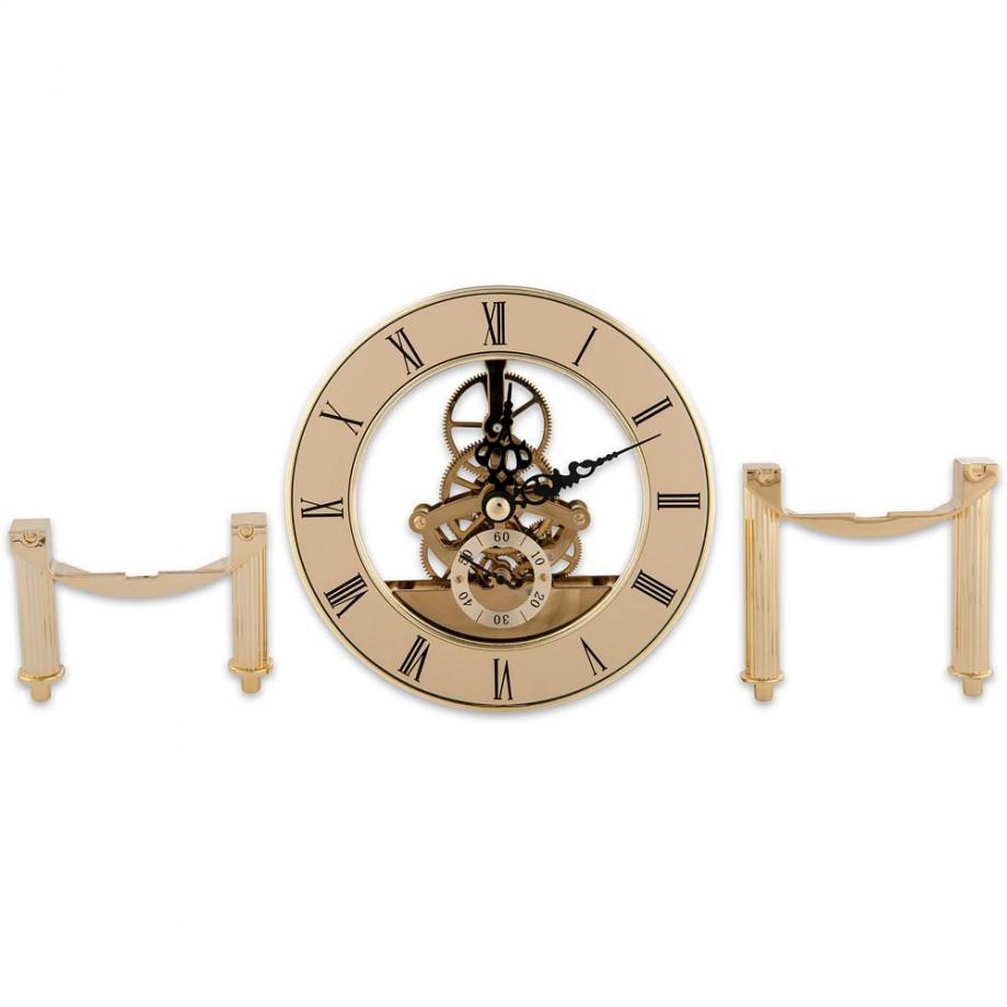 Craftprokits 126mm Gold Skeleton Clock