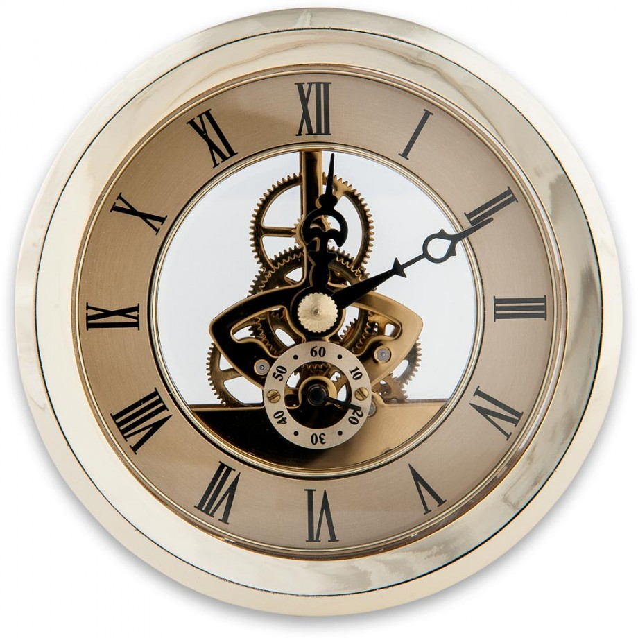 Craftprokits 100mm Gold Skeleton Clock Insert Project