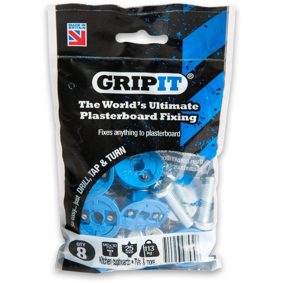 GripIt 25mm Plasterboard Fixings Blue (Pkt 8)