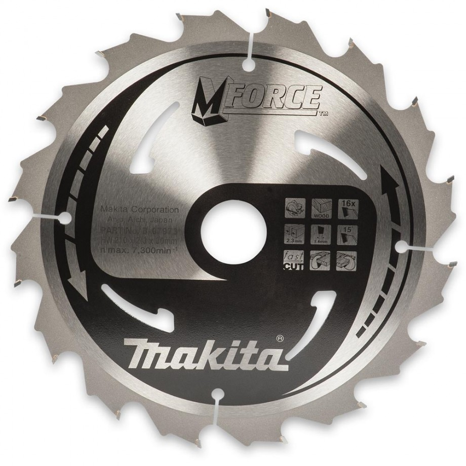Makita MForce Circular Saw Blade 210mm x 16T x 30mm
