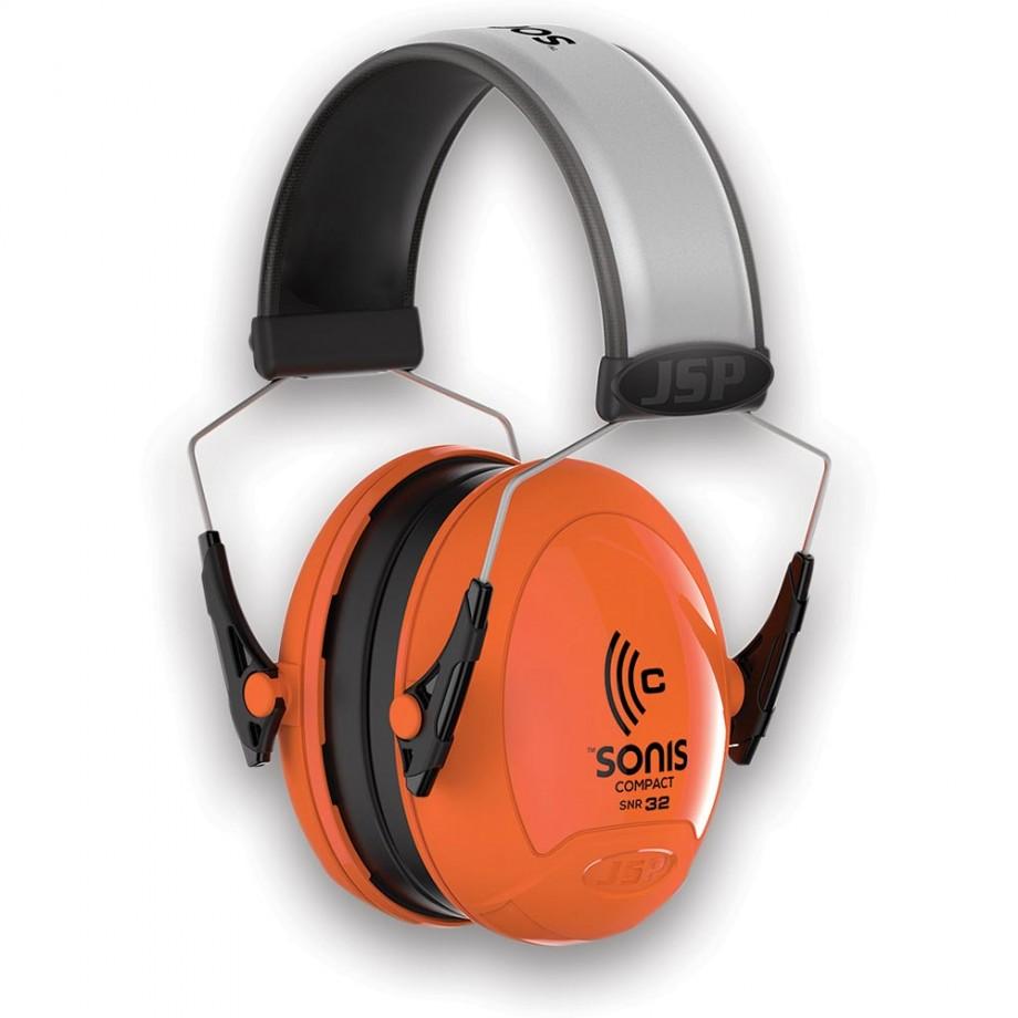 JSP Sonis Compact Hi-Vis Ear Defenders SNR 32