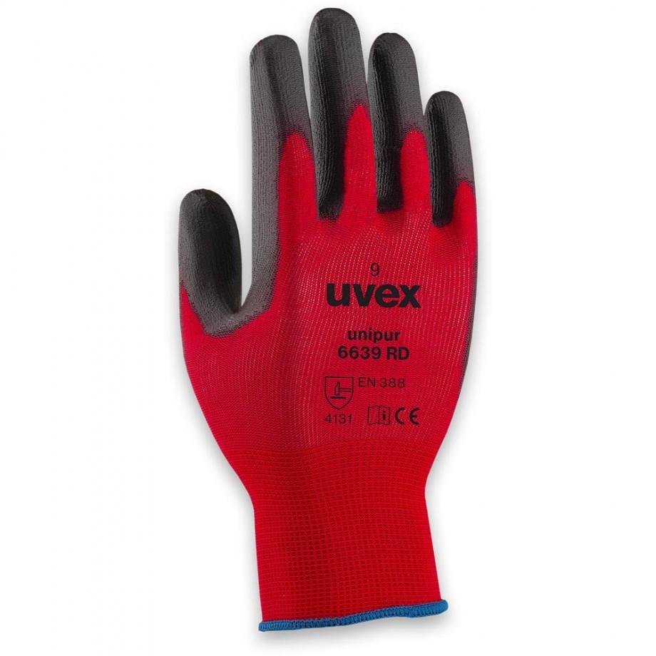 uvex Unipur 6639 PU RD Gloves Size 9