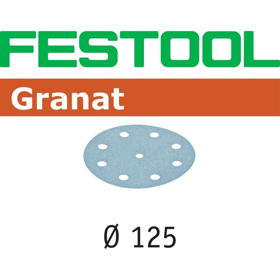 Festool Granat Sanding Discs 125mm P40 (Pkt 10)