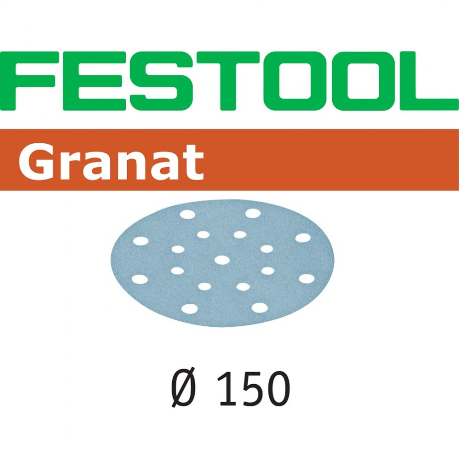 Festool Granat Sanding Discs 150mm P120 (Pkt 10)