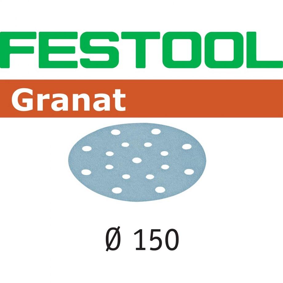 Festool Granat Sanding Discs 150mm P180 (Pkt 10)