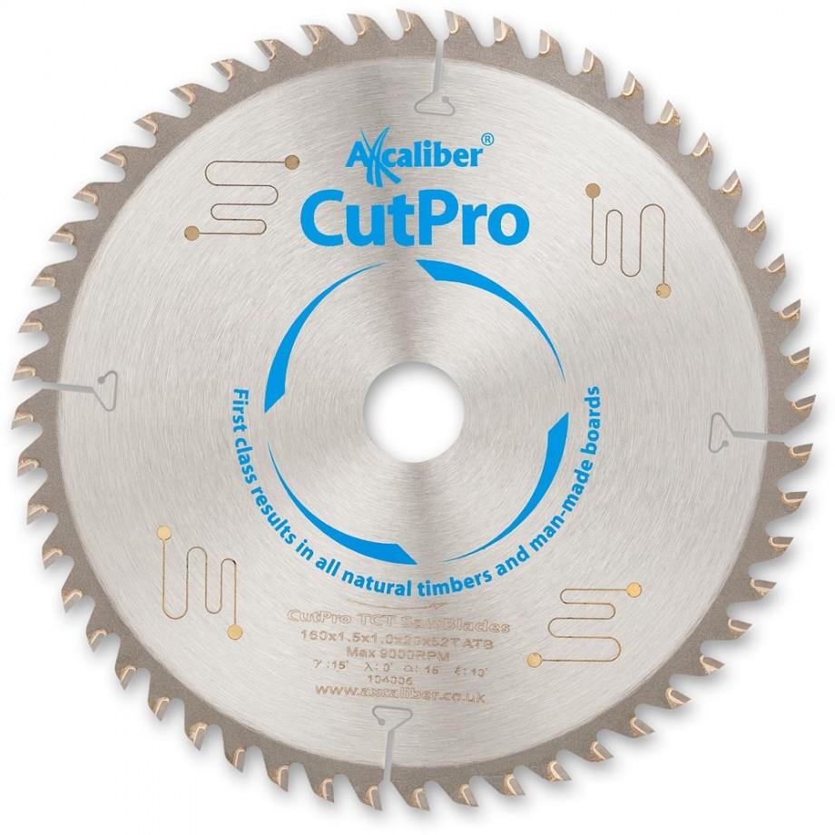Axcaliber CutPro TCT Saw Blade 160mm x 1.5mm x 20mm x 52T