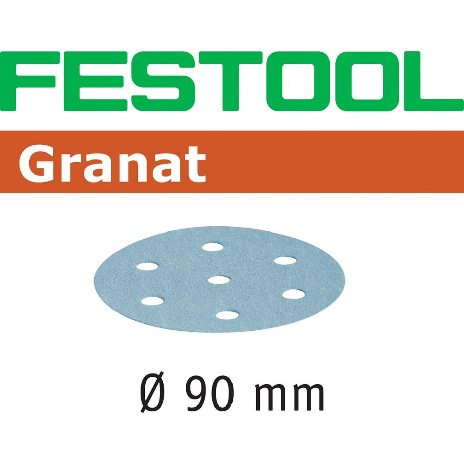Festool Granat Sanding Discs 90mm P120 (Pkt 100)