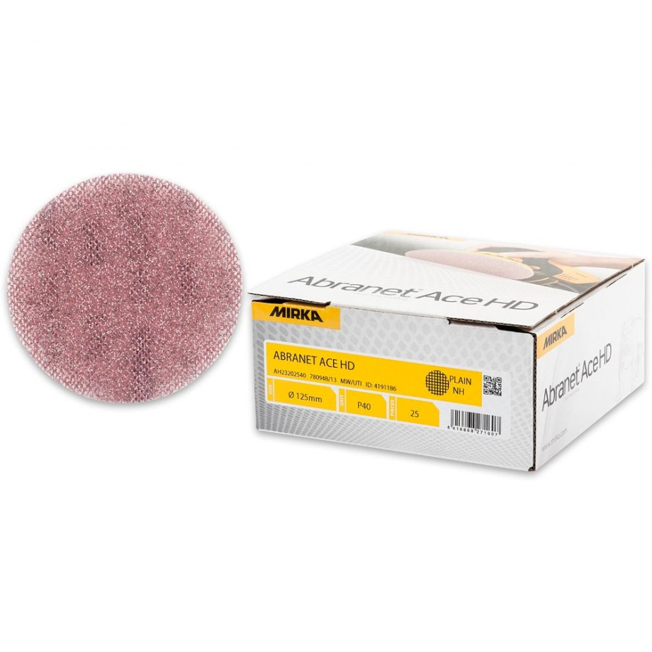 Mirka Abranet Ace HD Abrasive Discs 40g - 125mm (Pkt 25)