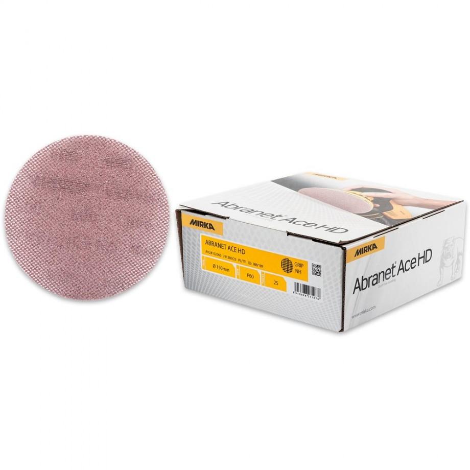 Mirka Abranet Ace HD Abrasive Discs 60g - 150mm (Pkt 25)