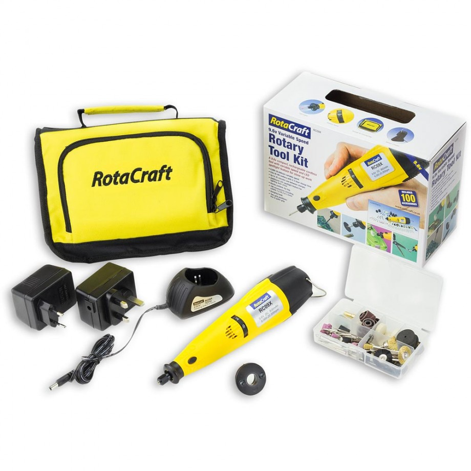 Rotacraft 9.6V Variable Speed Rotary Multi-Tool Kit