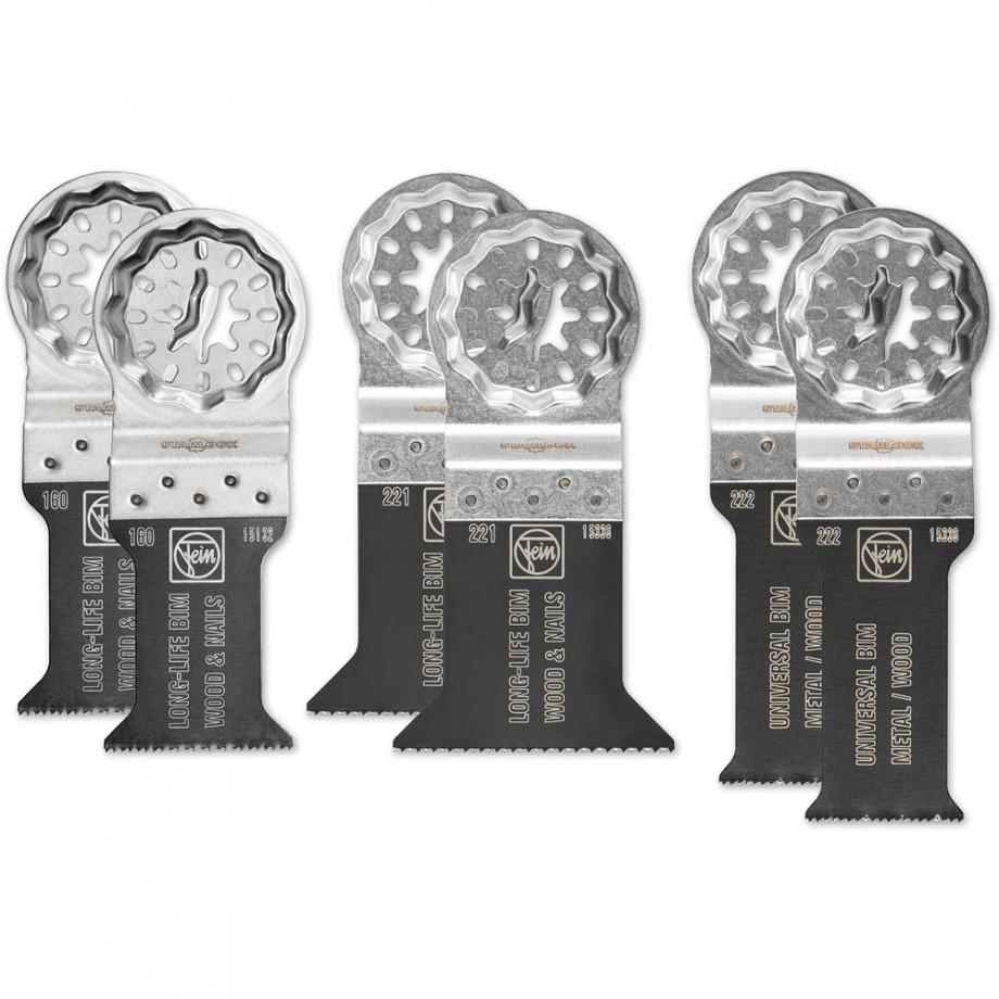 FEIN Best Of E-Cut Blades Set Of 6 (Starlock)