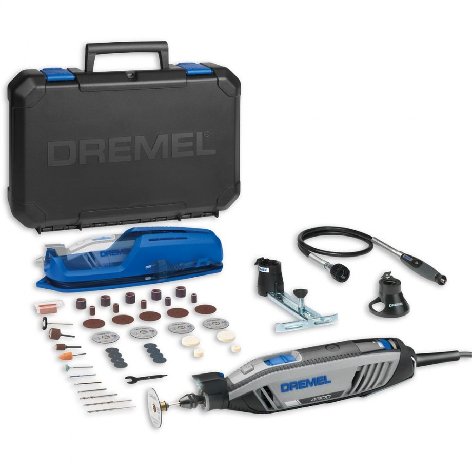 dremel 4300 3 35 multi tool with accessories rotary. Black Bedroom Furniture Sets. Home Design Ideas