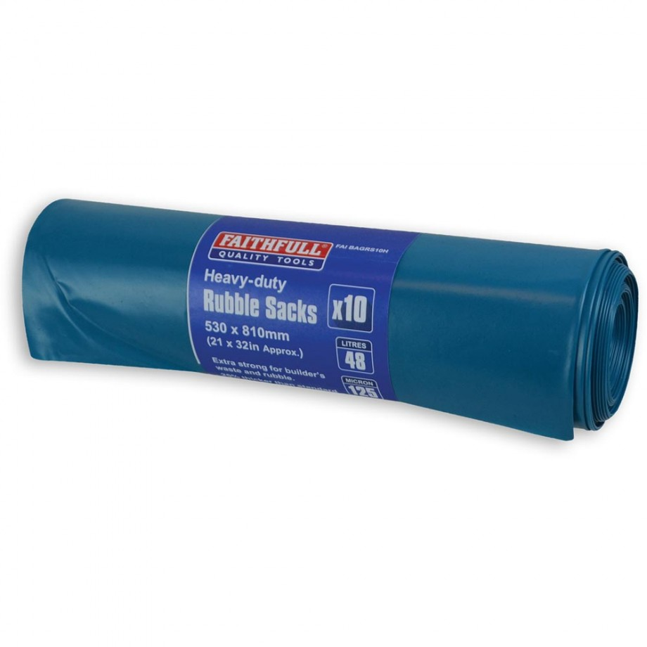 Faithfull Blue Heavy Duty Rubble Sacks (Pkt 10)