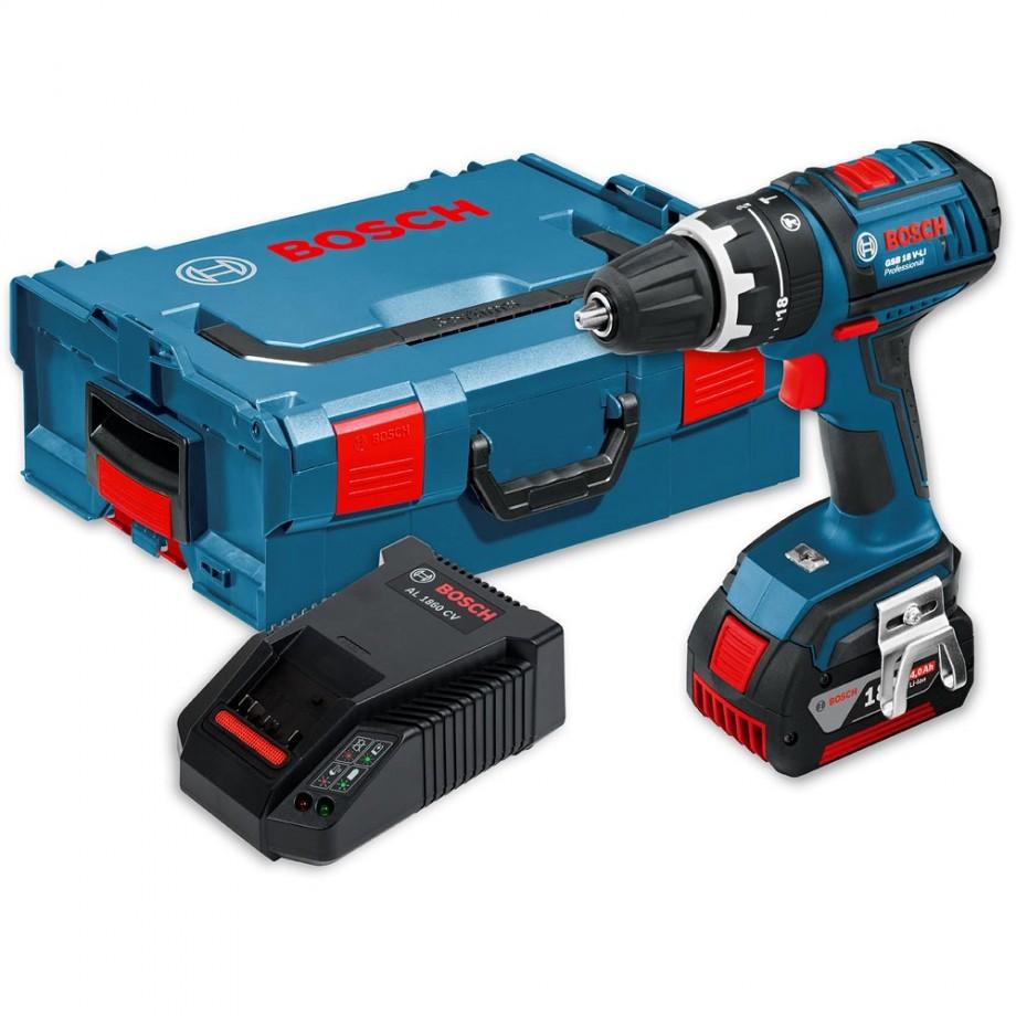 Bosch GSB 18V-Li Combi Drill in L-Boxx 18V (4.0Ah) - Combi Drills ...