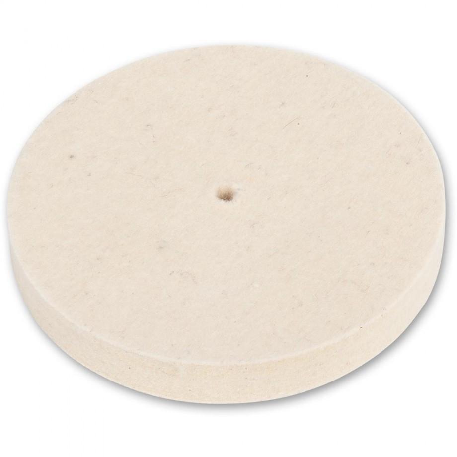 Axminster Craft 150mm Felt Wheel Plain Bore - Soft