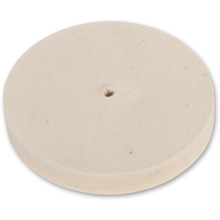 Axminster Craft 150mm Felt Wheel Plain Bore - Hard