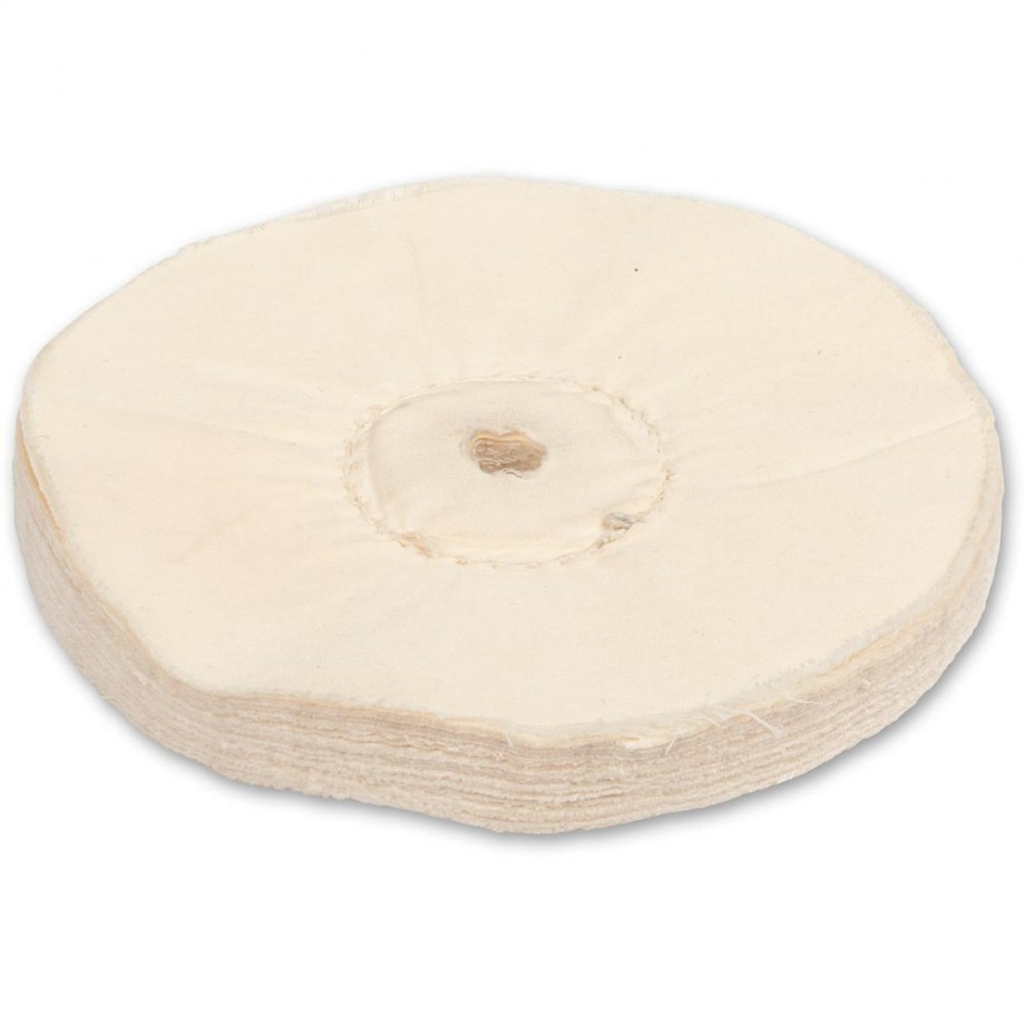 Axminster Craft 150mm Loose-Leaf Polishing Mop Plain Bore