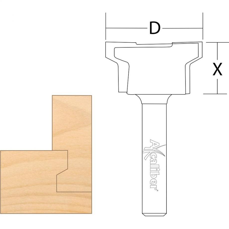 """Axcaliber Drawer Lock Cutter 1/4"""" Shank"""