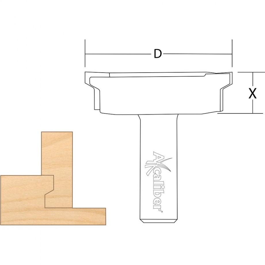 """Axcaliber Drawer Lock Cutter 1/2"""" Shank"""
