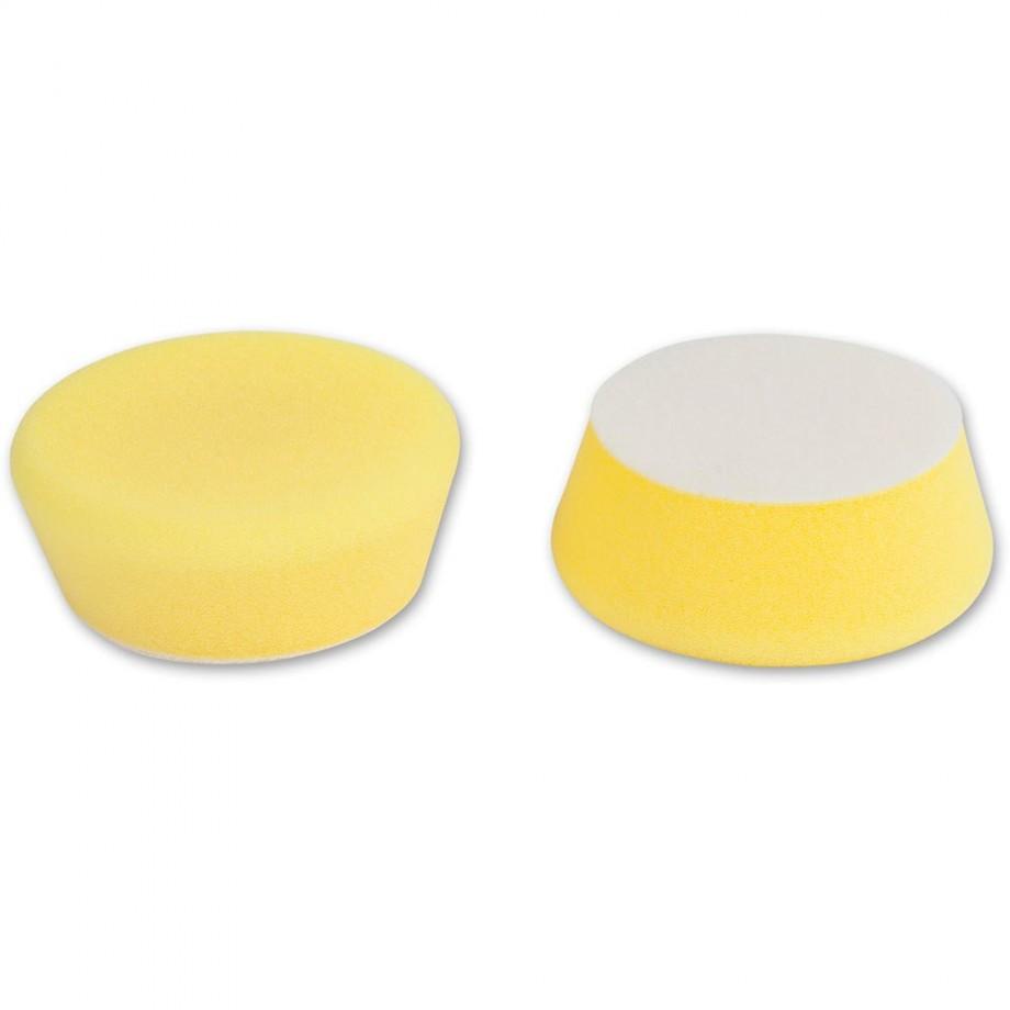 Proxxon Medium Yellow Polishing Sponges (Pkt 2)