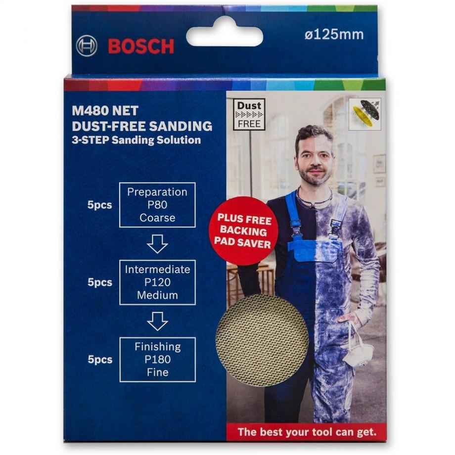 Bosch M480 Net Abrasive 125mm Discs Bonus Pack