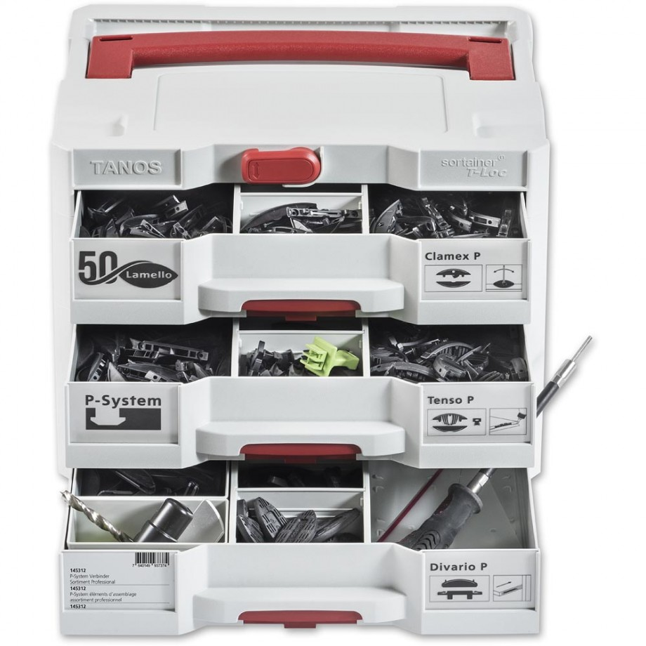 Lamello P-System Professional Connector Assortment In Sortainer Case