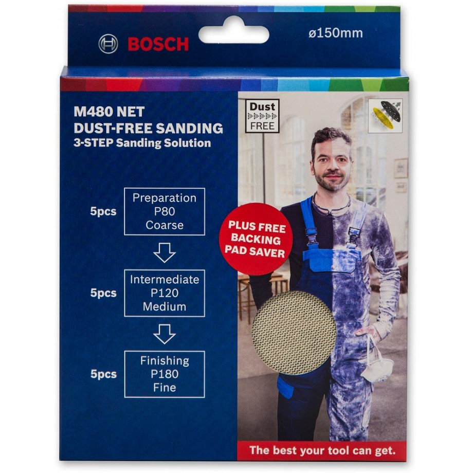 Bosch M480 Net Abrasive 150mm Discs Bonus Pack