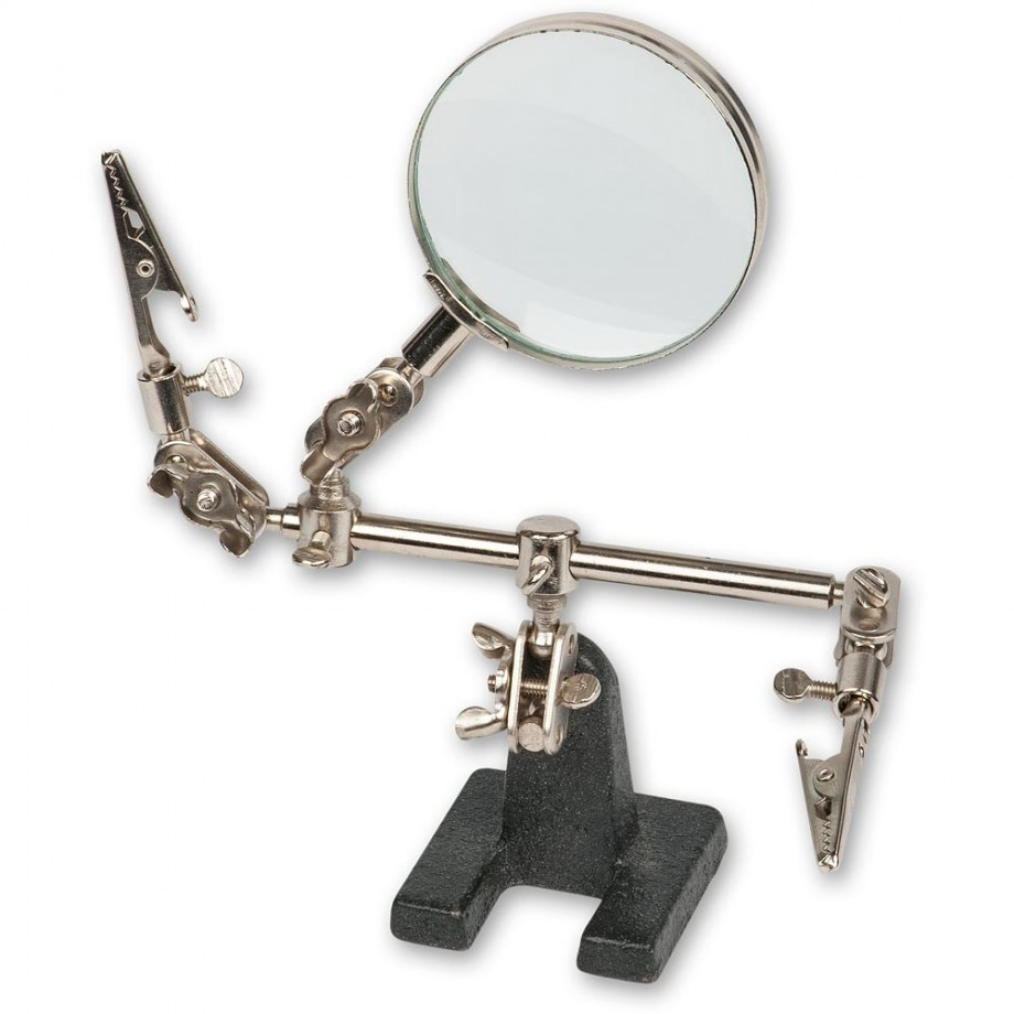ModelCraft Helping Hands & Glass Magnifier