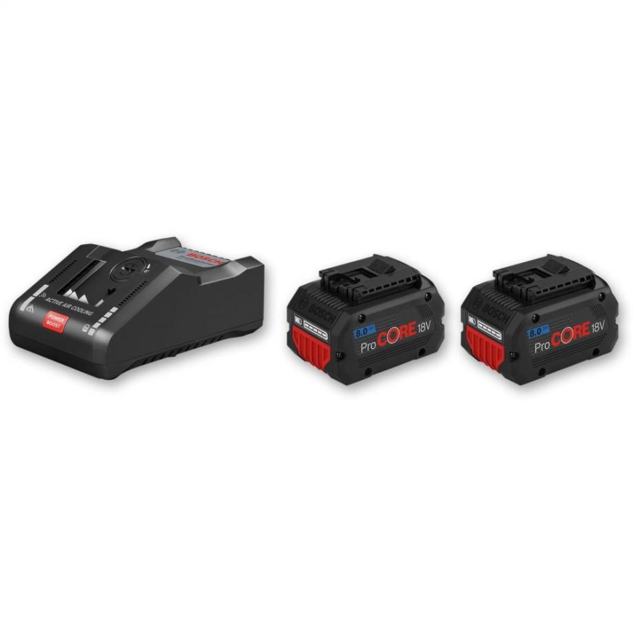Bosch ProCore Li-Ion Batteries & Charger 18V (8.0Ah)