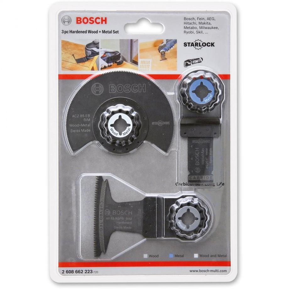 Bosch Starlock Wood & Metal Blade 3 Piece Set