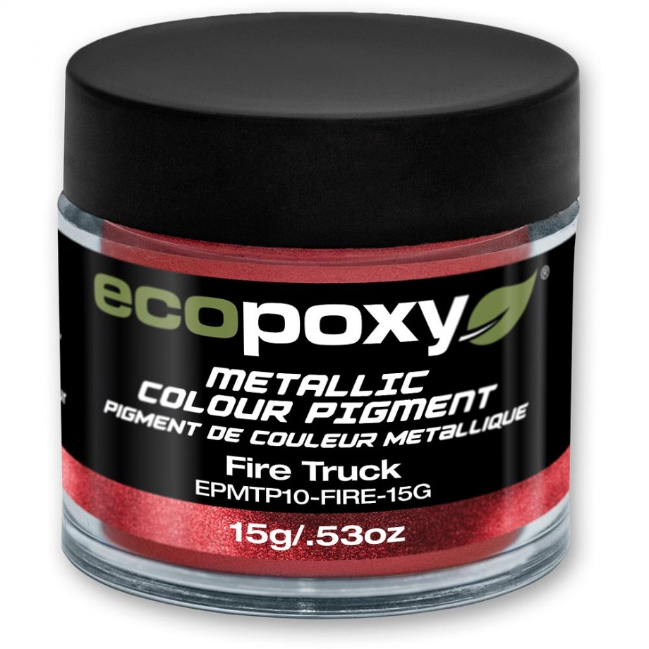 EcoPoxy Metallic Colour Pigment - Fire Truck 15g