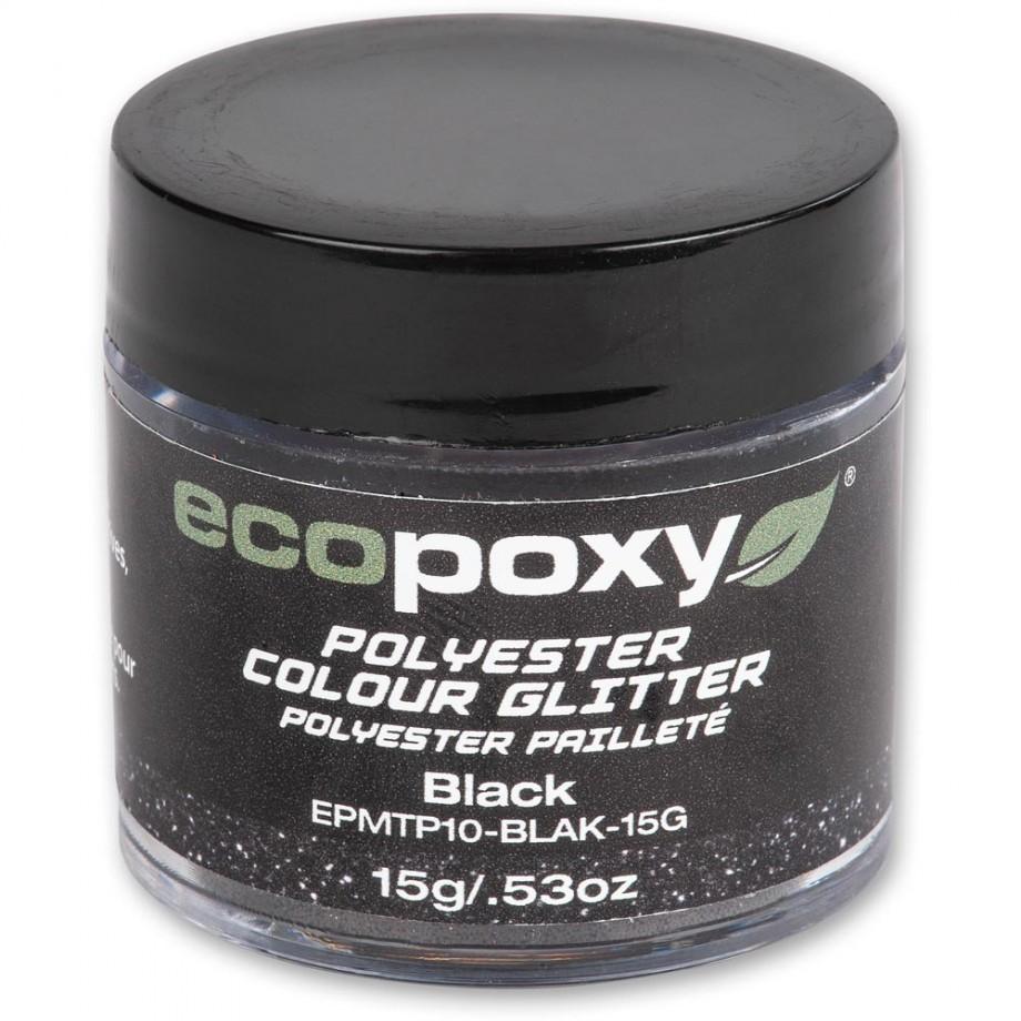 EcoPoxy Colour Glitter - Black 15g