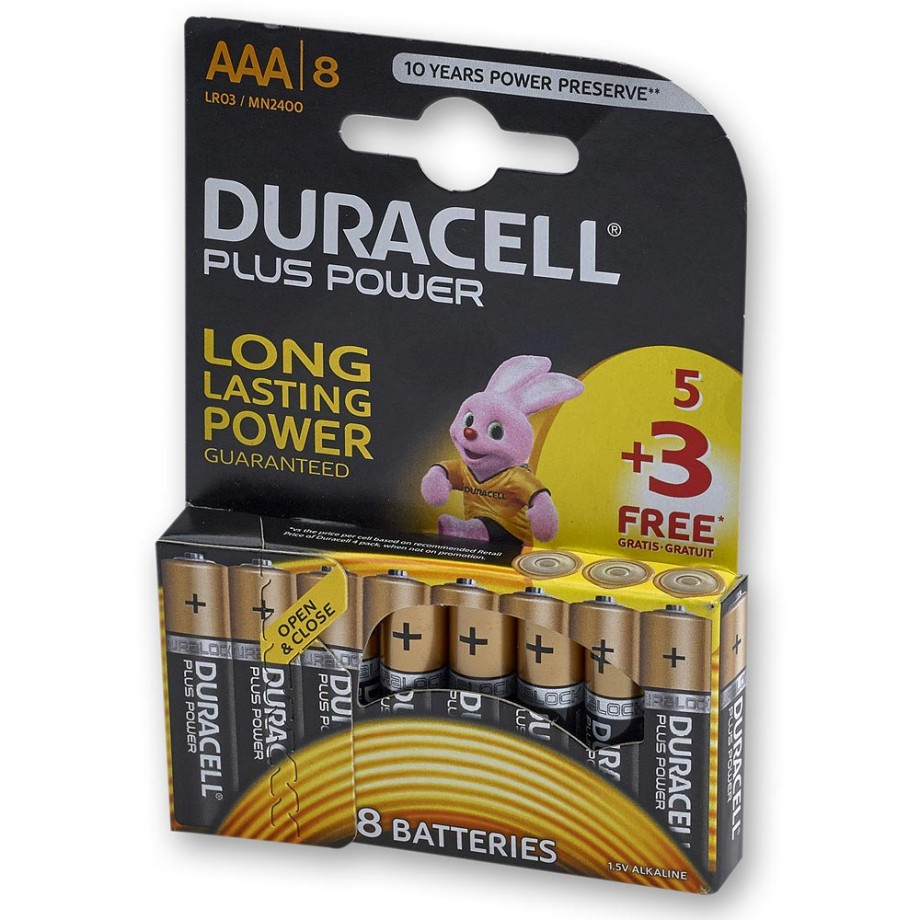 Duracell 5+3 AAA Pack