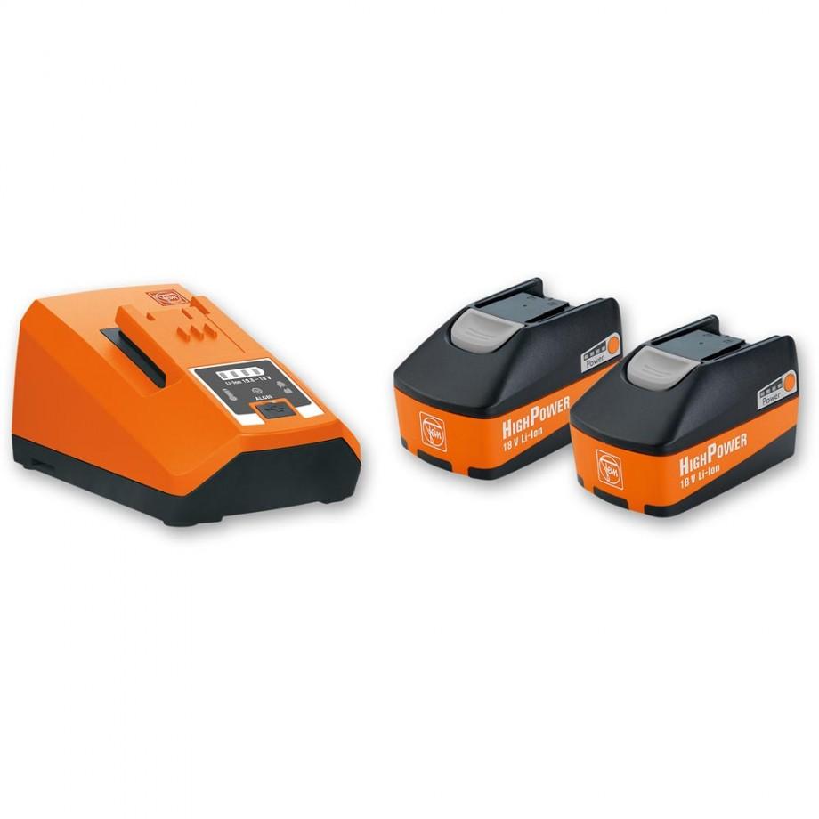 FEIN Batteries & Charger Set 18V (5.2Ah)