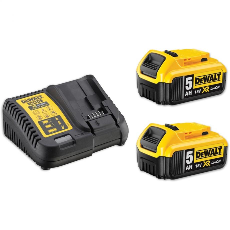 DeWALT DCB184B2C Charger & Battery Kit 18V (5.0Ah)