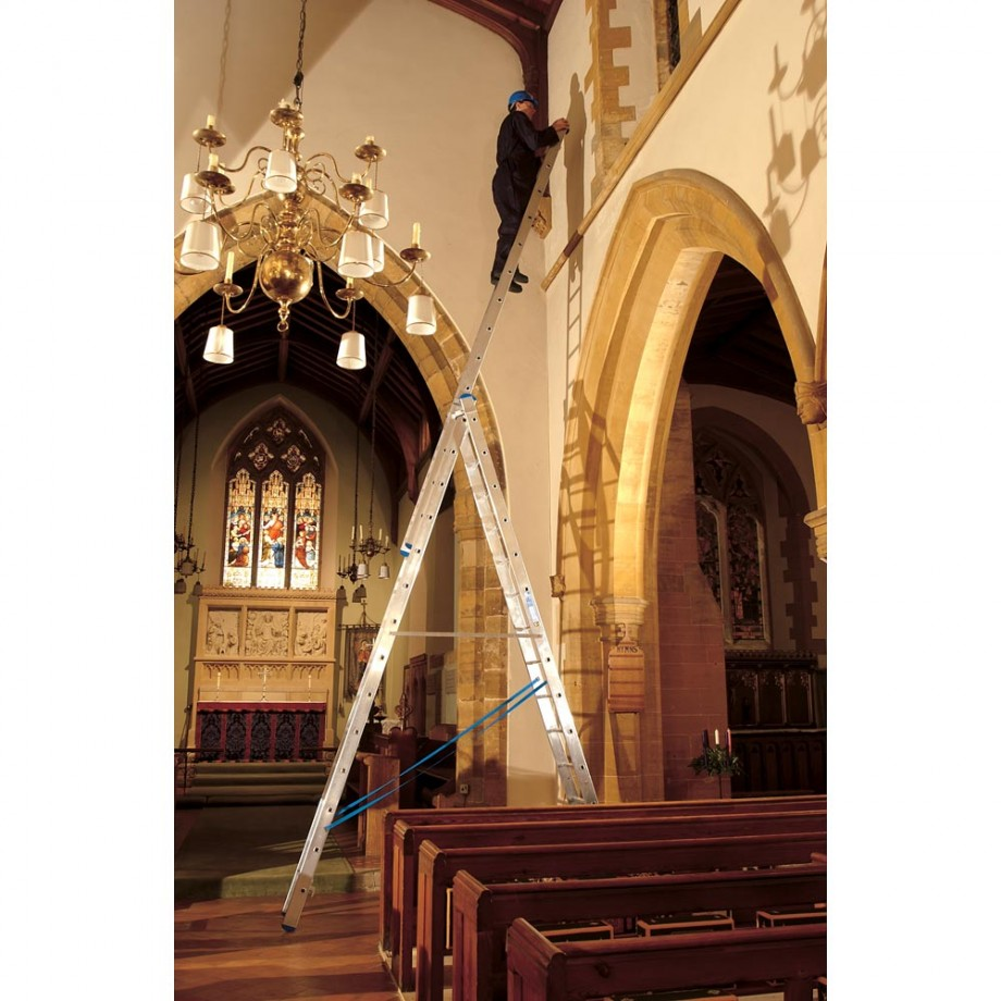 Zarges Skymaster Trade Ladder 3-Part - 3 x 14 Rungs