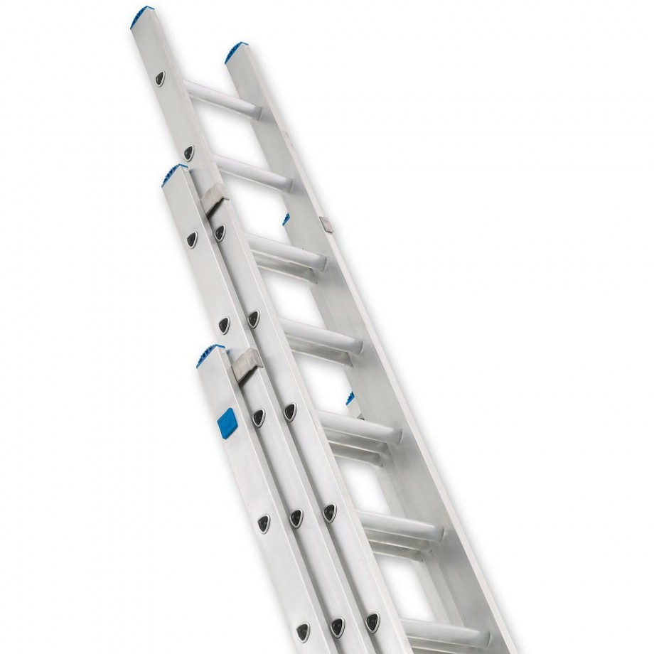 Zarges Industrial Extension Ladder 3-Part D Rung - 3 x 12