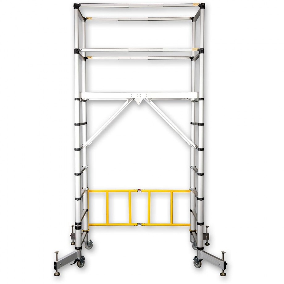 Zarges TT002 Teletower Aluminium Telescopic Scaffold Tower with Toeboards