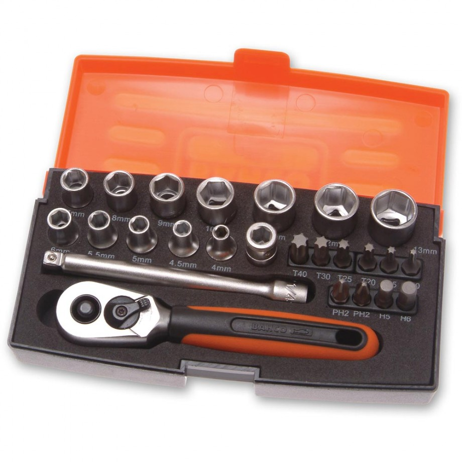 "Bahco SL25 25 Piece Socket Set (1/4"")"