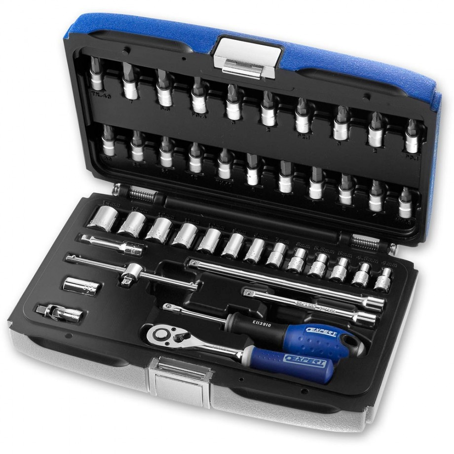 "Britool 42 Piece Metric Socket Set (1/4"")"